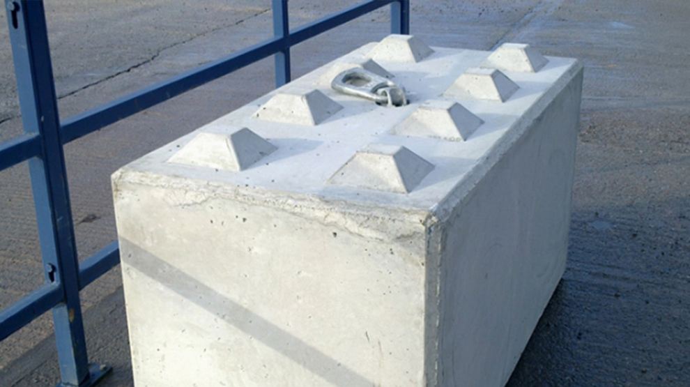 security concrete block barrier