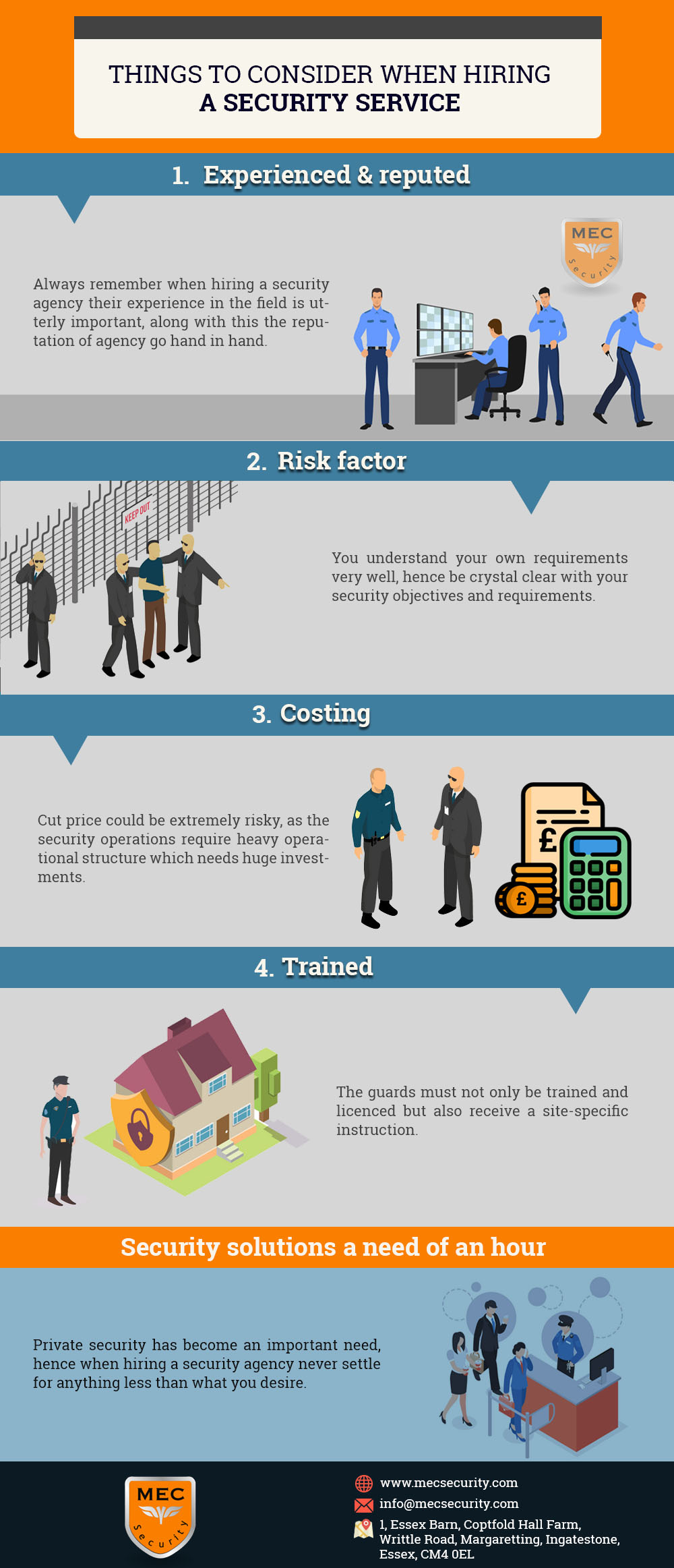 THINGS TO CONSIDER WHEN HIRING A SECURITY SERVICE