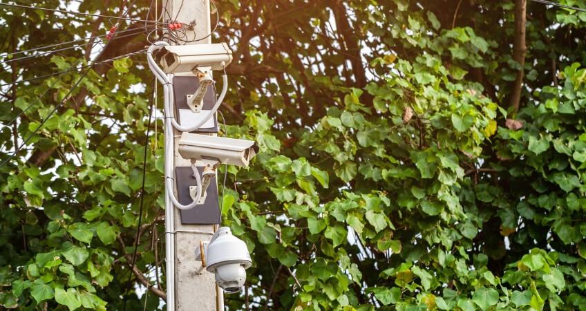 Security camera wiring