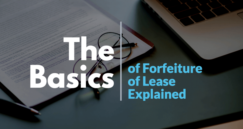 basics-of-forfeiture-of-lease