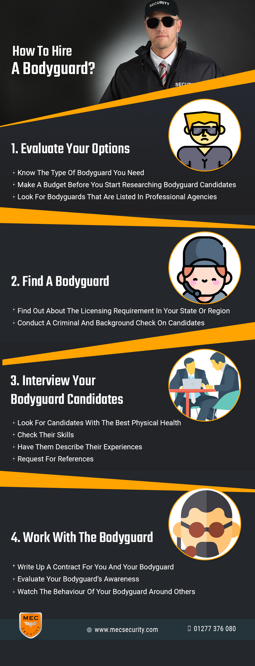 how to hire a bodyguard